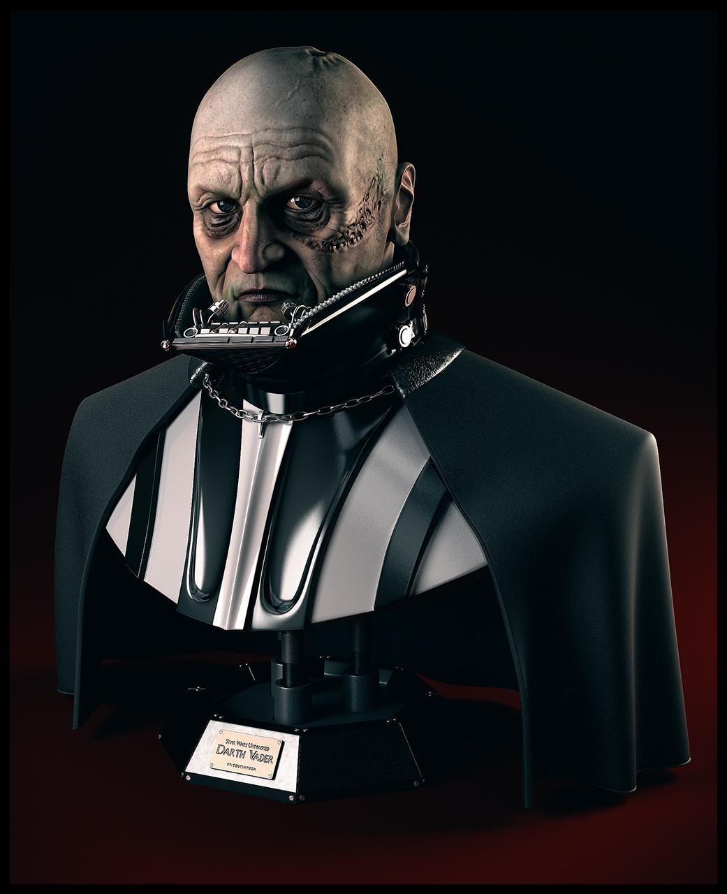Darth Vader Unmasked Bust
