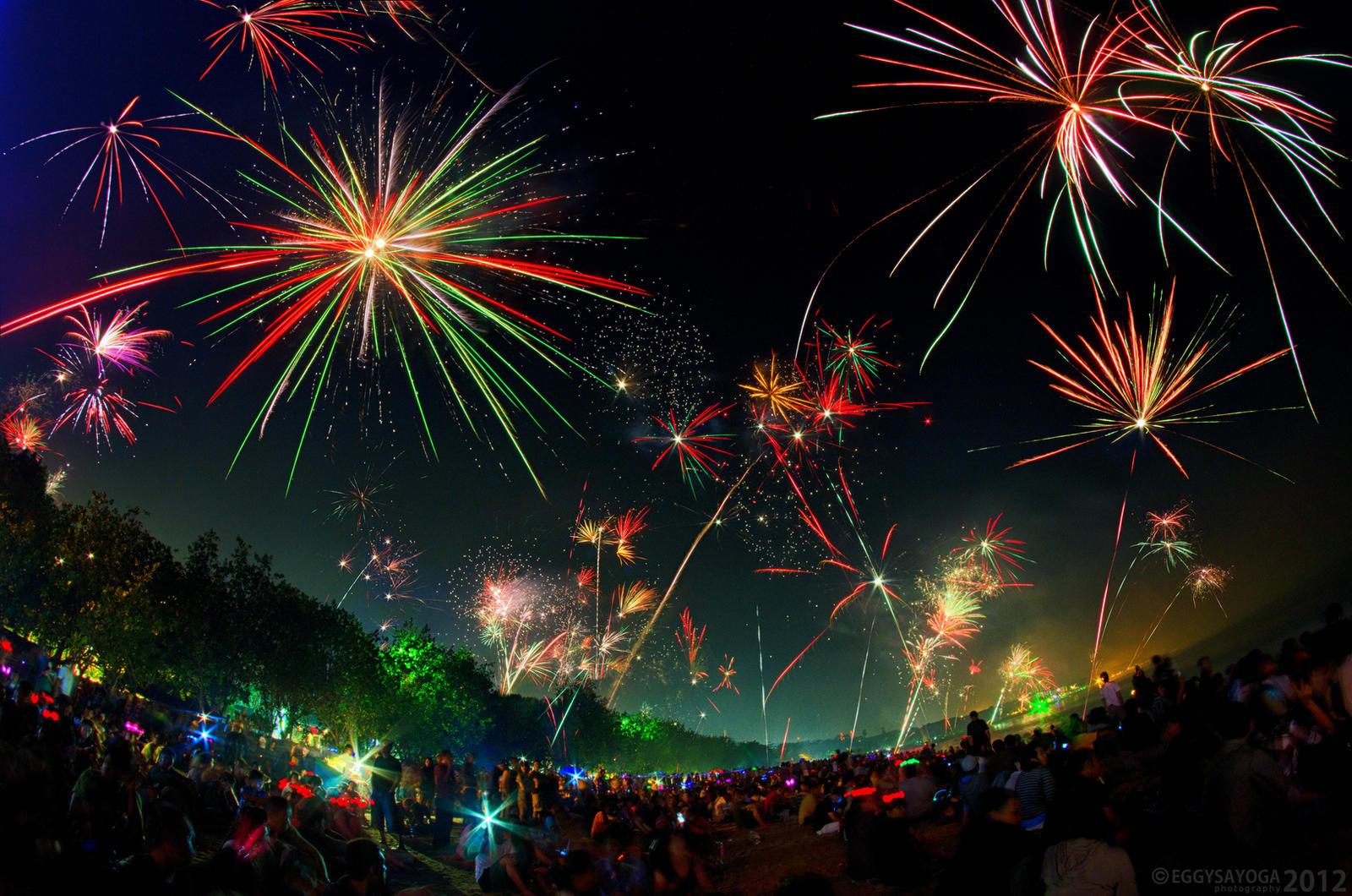Kuta 2012 New Year Fireworks