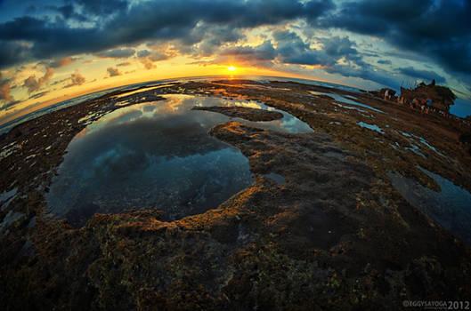 Sunset at Tanah Lot