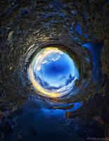 The Blue Tunnel by SaiogaMan