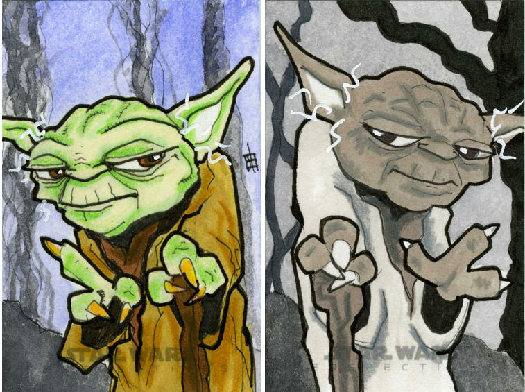 Star Wars Chrome Perspectives - Yoda by 10th-letter