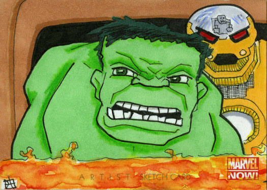 Marvel Now - Hulk and Quintronic Man by 10th-letter