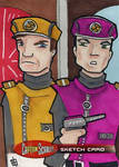 Captain Scarlet- Captain Ochre and Captain Magenta