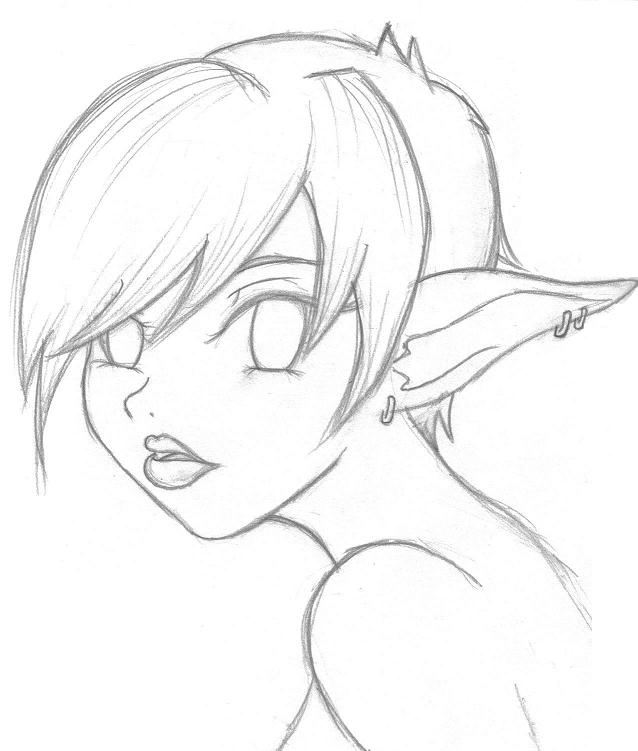 fairy girl - pencil by LadyScarring on deviantART