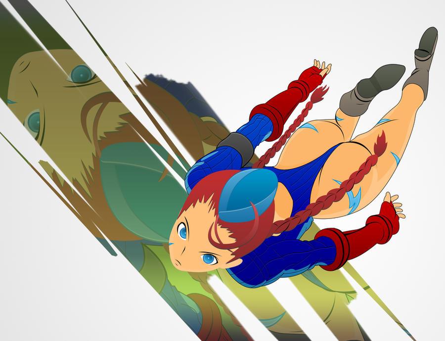 Street Fighter: Red Hair Cammy by darkheroic