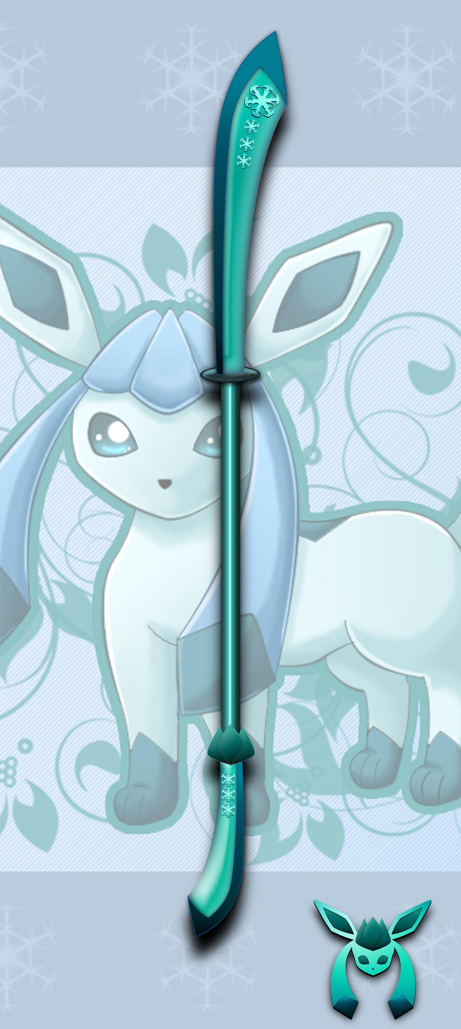 Reversed Gijinka: Glaceon by darkheroic