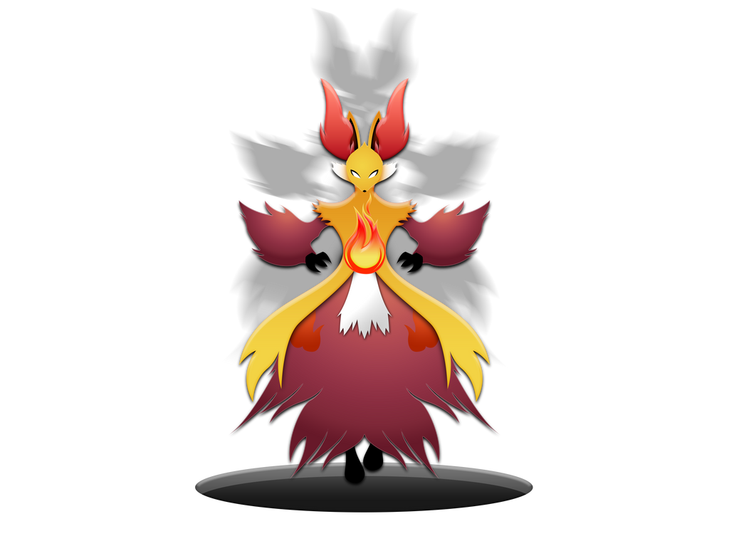 Delphox by darkheroic