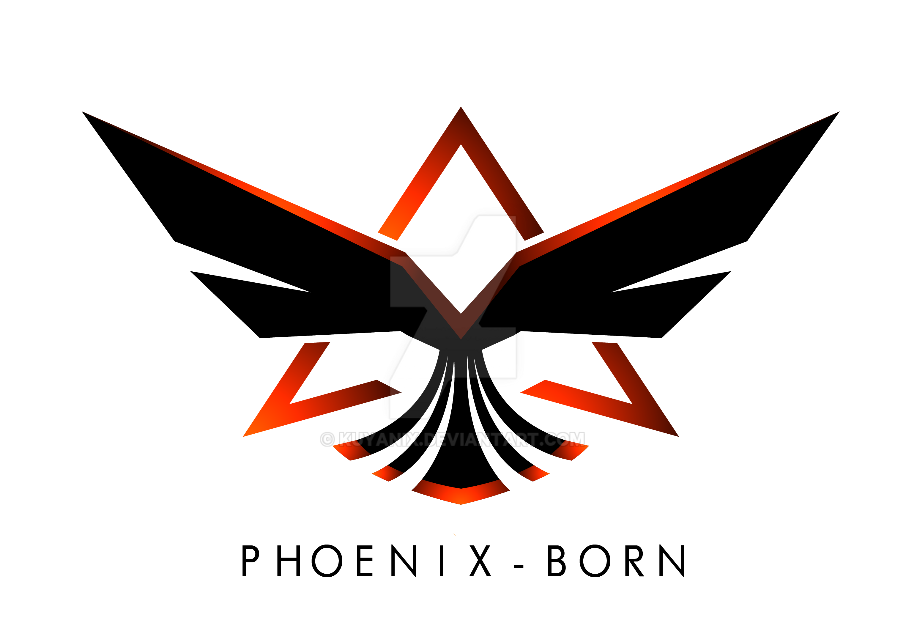 Dark Phoenix Logo Commission: Phoenix-Bo...