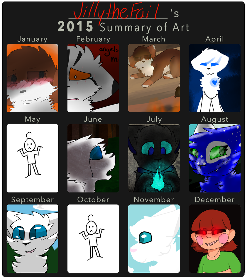 2015 Summary of Art by JillytheFail