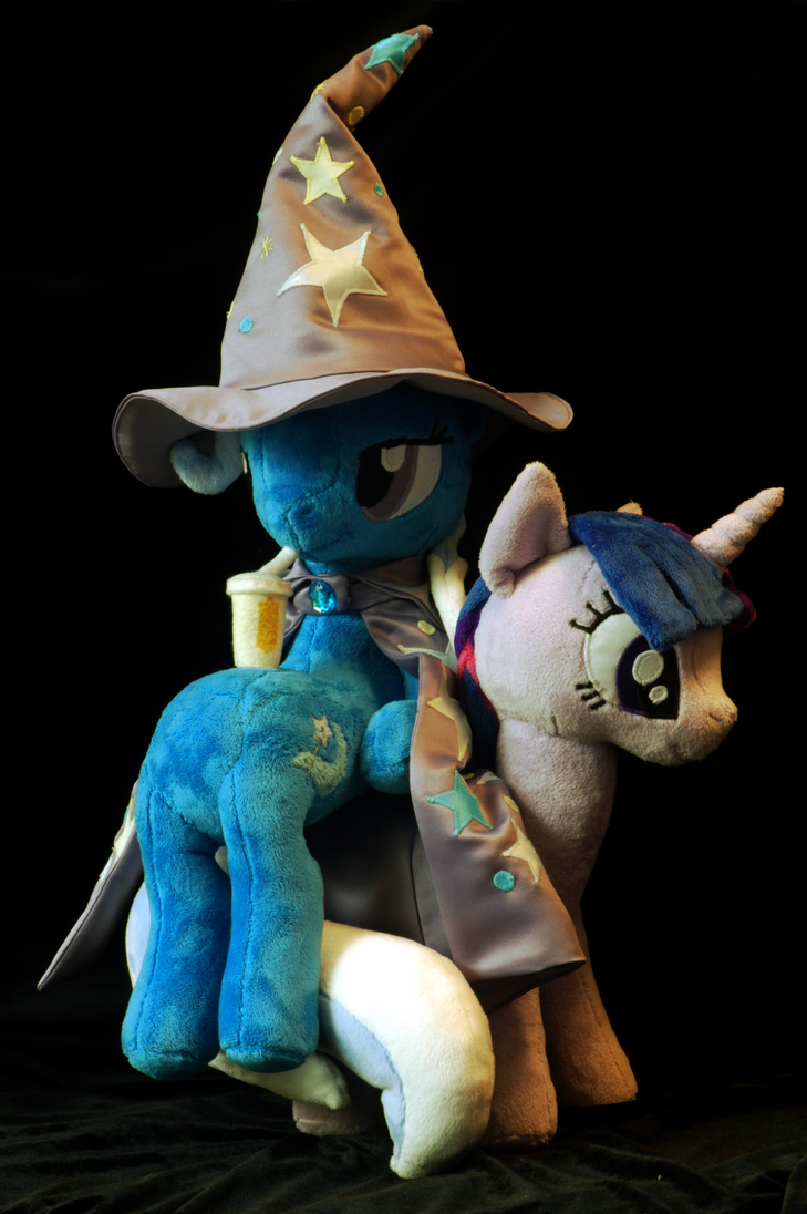 My Little Pony Sitting Trixie Plushie by WhiteHeather