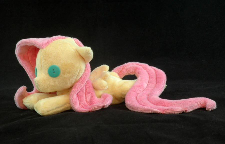 Beanie Baby Fluttershy Plushie by WhiteHeather