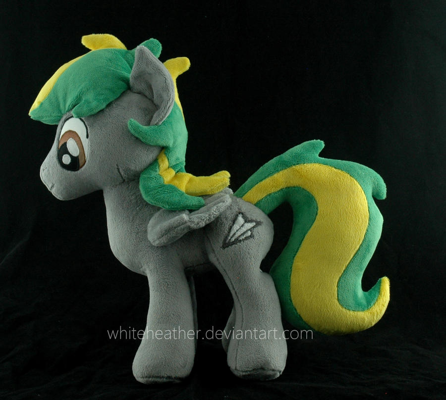 My Little Pony OC plushie: Torque Roll by WhiteHeather
