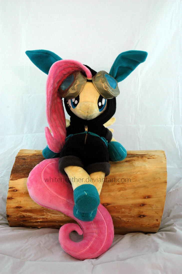 Sitting Dangerous Mission Fluttershy Plushie by WhiteHeather