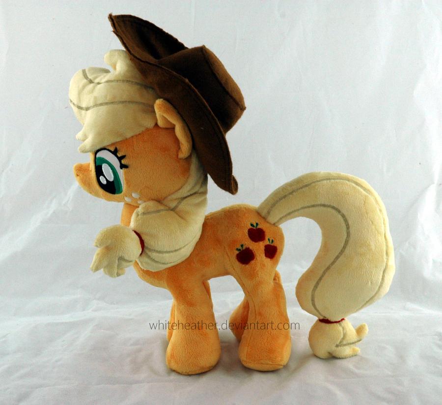 Applejack plushie by WhiteHeather