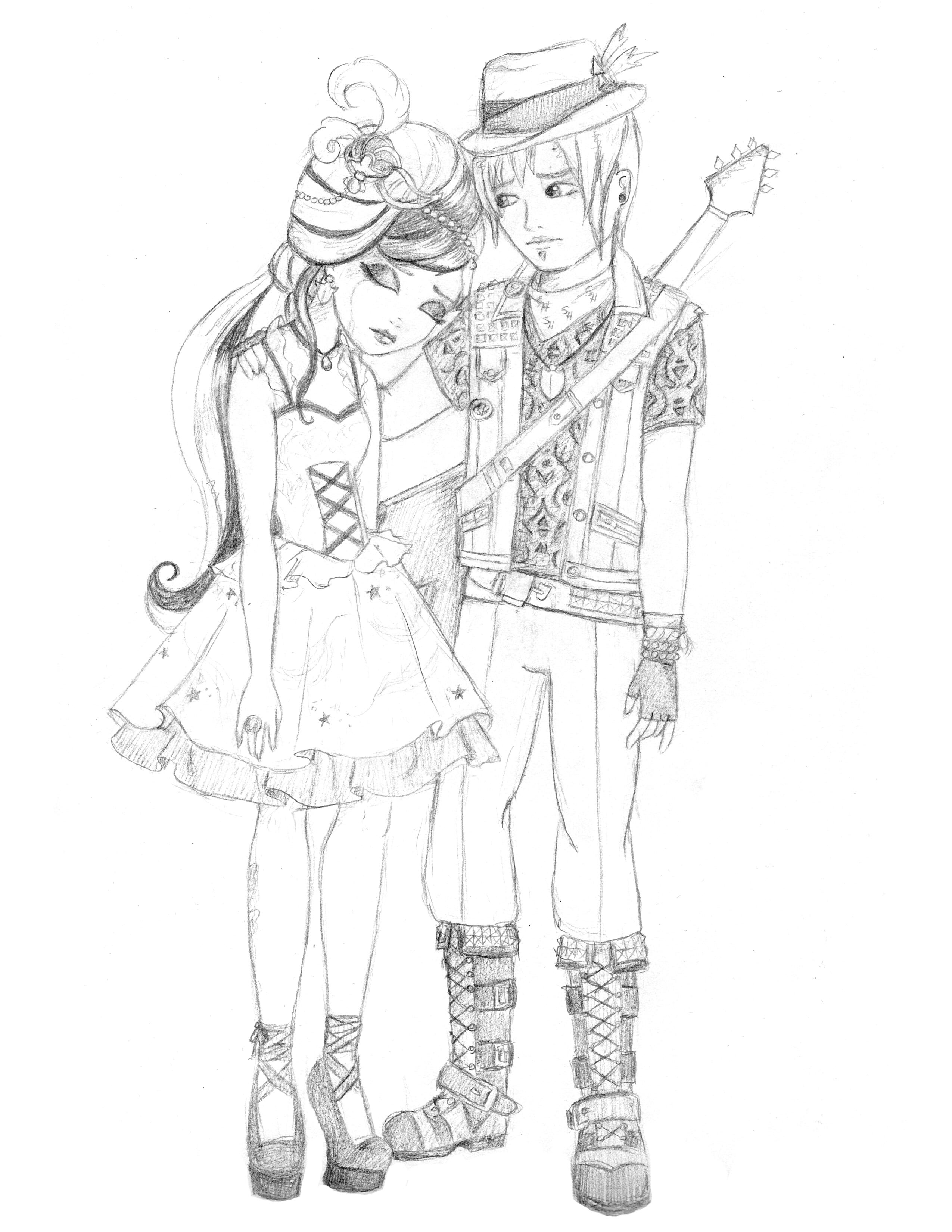 Ever After High Duchess And Sparrow By WhiteHeather On