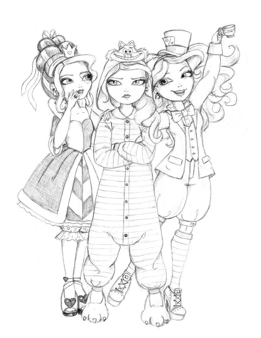 Ever After High Wonderland Girls Go Disney By WhiteHeather On