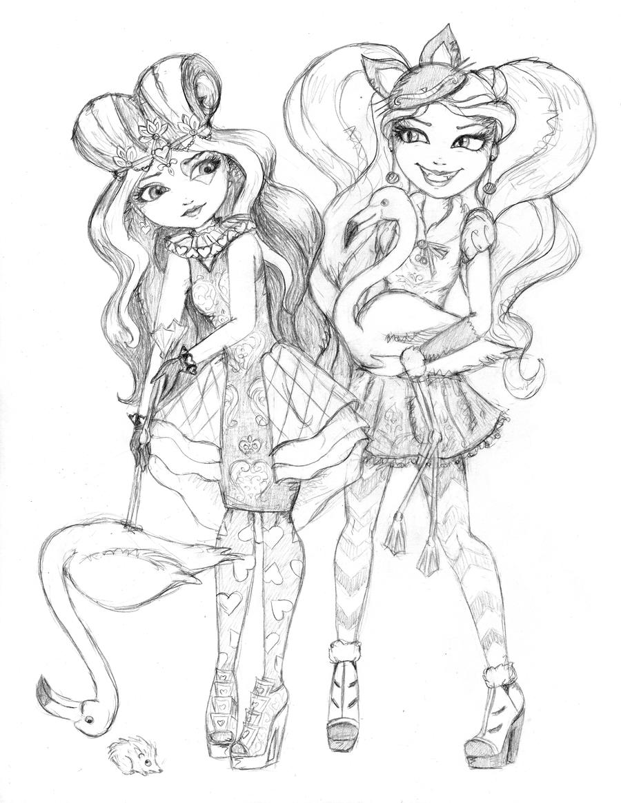 Ever After High Lizzie And Kitty Play Croquet By WhiteHeather