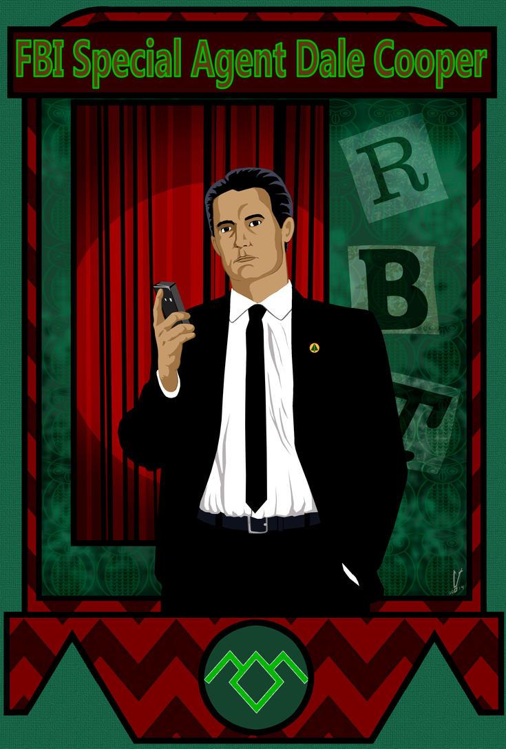 Twin Peaks: FBI Special Agent Dale Cooper by SpaceHeroStudios