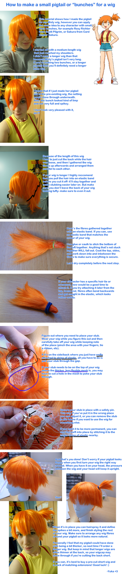 Wig Tutorial: Small pigtails by yuka-rin