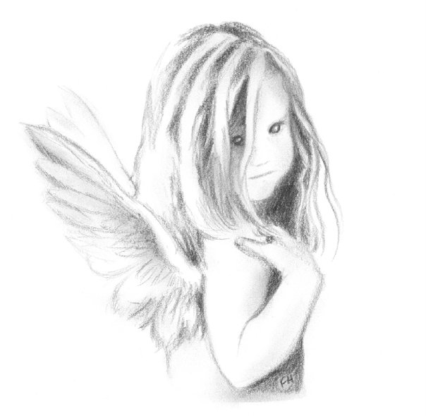 Baby angel sketch by farooky
