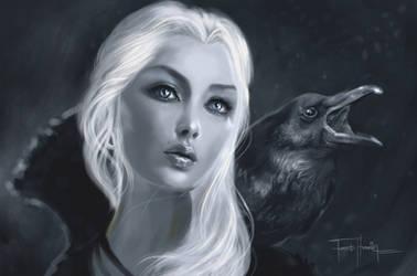 Raven Lady by farooky