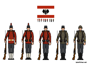 Darventian Armed Forces Uniforms Early War by Wolftheriot