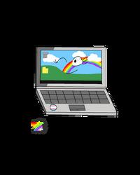 Hbd and TDOV (no background): laptop