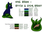 Opal Shade - style and color sheet