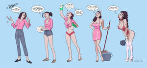 I'm Not Your Maid [bimbofication transformation]