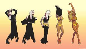 Goth Gets Some Color bimbofication transformation