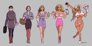 A Matter Of Style remake [bimbo transformation]