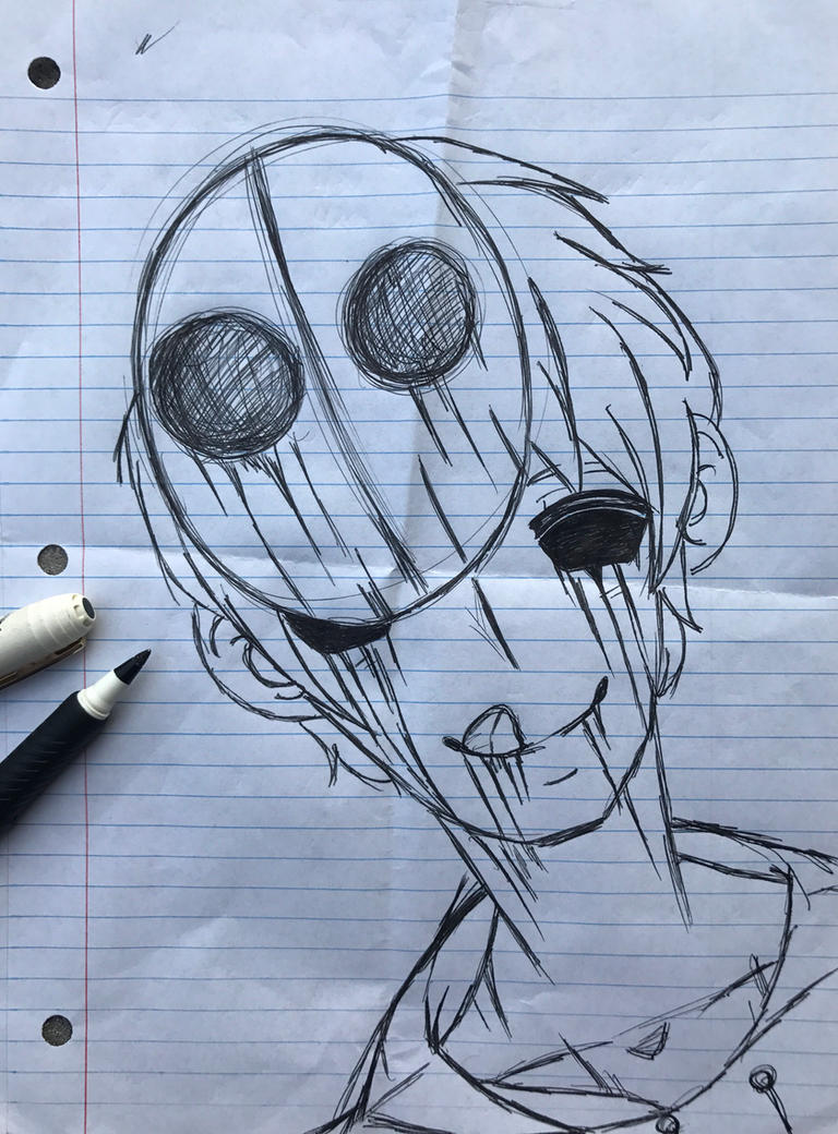 Eyeless Jack Pen Sketch by hay0225