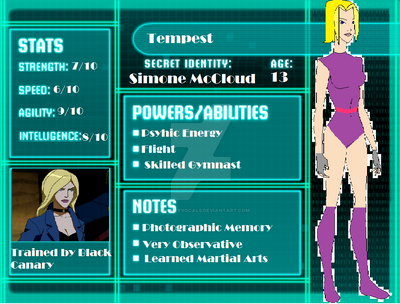 Young Justice Profile: Tempest by BansheeVocals