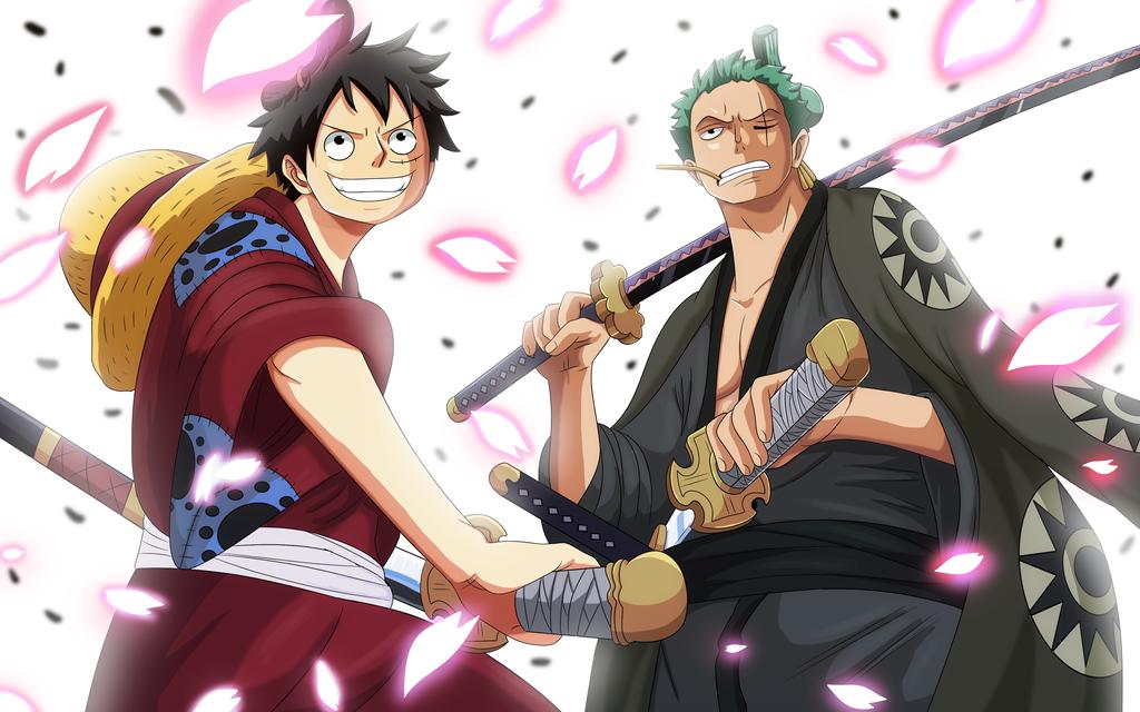 Luffy and Zoro v2 (One Piece Ch. 912) by bryanfavr
