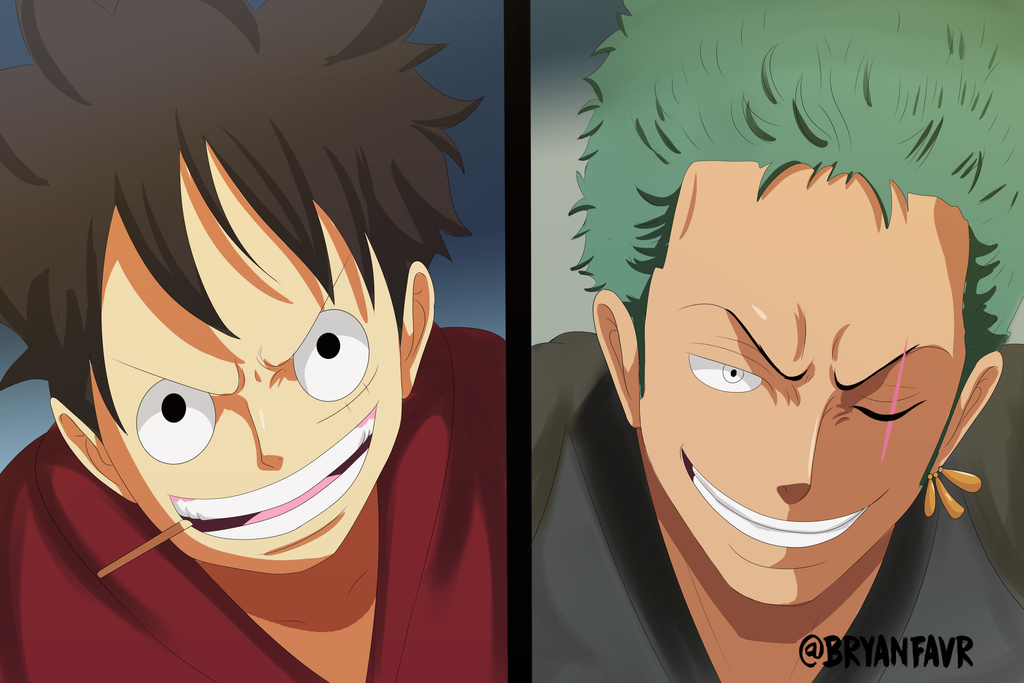 Luffy and Zoro (One Piece Ch. 914) by bryanfavr