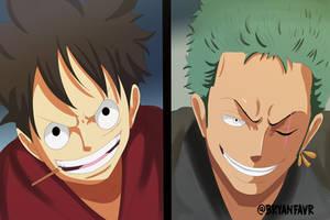 Luffy and Zoro (One Piece Ch. 914) by bryanfavr