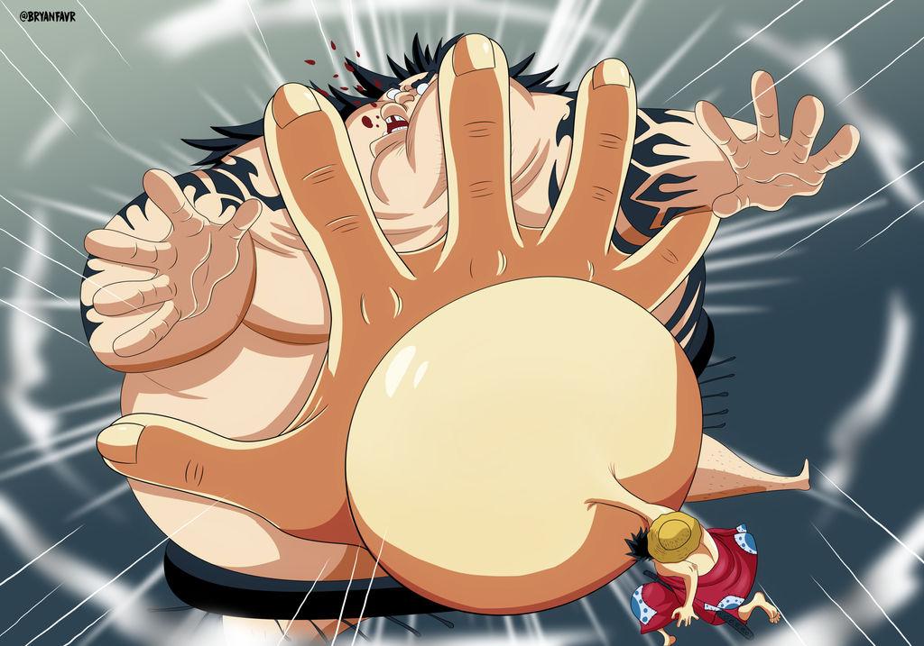 Gomu Gomu no  tsuppari (One Piece Ch. 916) by bryanfavr