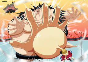 Gomu Gomu no  tsuppari v2 (One Piece Ch. 916) by bryanfavr