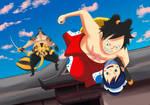 Luffy y O-tama (One Piece Ch. 917)