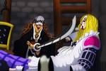 Trafalgar Law vs Basil hawkins (One Piece Ch. 954)