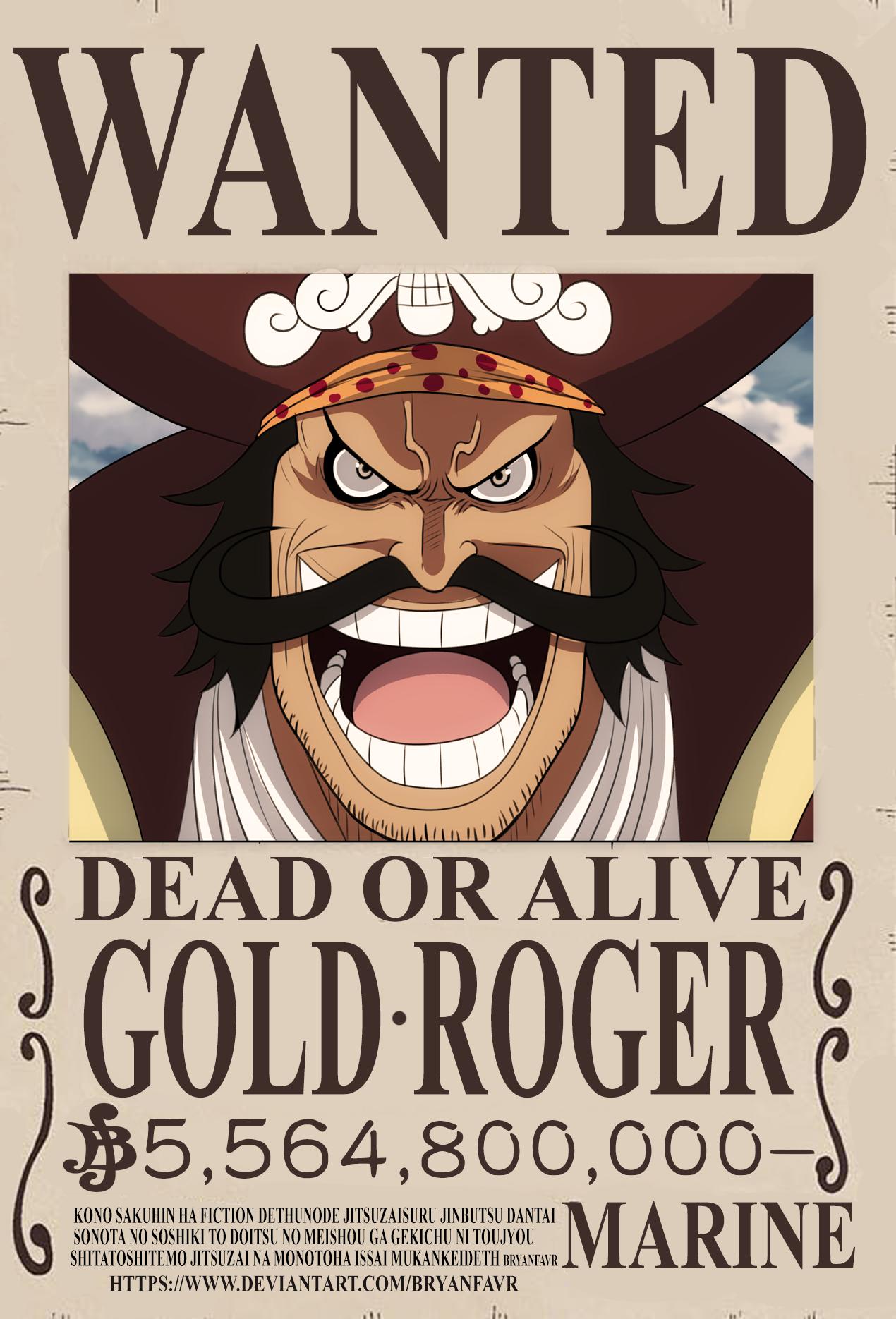 Gol D. Roger bounty (One Piece Ch. 957) by bryanfavr on DeviantArt