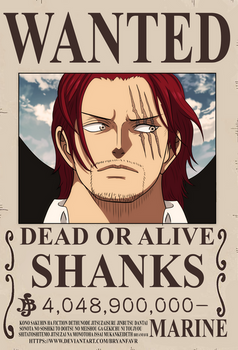 Shanks bounty (One Piece Ch. 957)