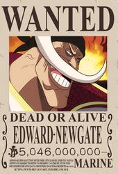 Edward Newgate Shirohige bounty (One Piece Ch.957)