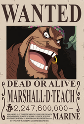 Marshall D. Teach bounty (One Piece Ch.957)