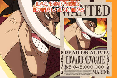 Edward Newgate Shirohige Wanted(One Piece Ch. 957)