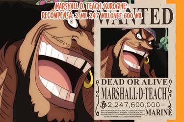 Marshall D. Teach Wanted (One Piece Ch. 957)