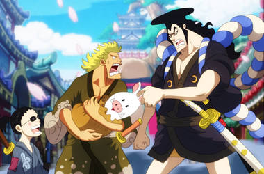 Oden, Kinemon, Denjiro (One Piece Ch. 961)