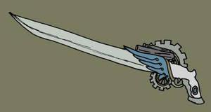 Swan Prince Steampunk GunSword