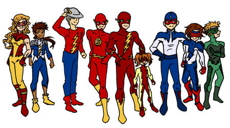 Flash Family Chibis