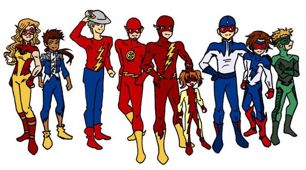Flash Family Chibis